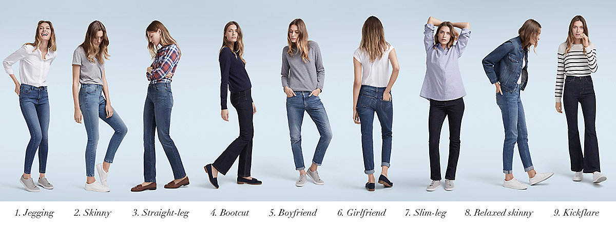 Женские модели джинс