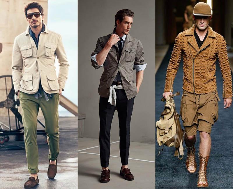 Стильно одетые мужчины всегда производят впечатление уверенных в себе и успешных людей. Мужественные представители сильного пола также следят за новшествами в мире моды. Современные мужчины стремятся идти в ногу со временем. Мужская одежда летнего сезона этого года позволит каждому мужчине, по мнению стилистов, подчеркнуть свои достоинства с помощью ярких или сдержанных цветов. Определиться со своим образом смогут не только молодые люди, но и мужчины постарше. Ведь первое впечатление о человеке создается на длительное время, а что как не одежда поможет показать себя стильным и современным человеком. Также стоит помнить о том, что многие люди делают первый вывод, о собеседнике исходя из того, в какую одежду он одет. Ведь мало кто оценит, если парень придет на романтическое свидание в спортивном костюме или на собеседование или же в брючном костюме на пляж. Не соответствие образа с настроением мероприятие не только вызовет удивление в окружающих, но и смех. Да и почти все девушки хотят, что бы их избранник был современный и продвинутый, который может разобраться в новых тенденциях моды. Выходя из этого можно сделать вывод, что каждый современный молодой человек должен, хотя бы ознакомится с последними новшествами в сфере моды. Захотев выглядеть, презентабельно стоит сосредоточить внимание на ярких деталях. Хорошей основой для подобного образа станут черные, серые и синие оттенки. Украсят их четкие линии или сложные геометрические абстракции. По-прежнему актуальными в этом году станут узкие брюки. Они отлично сочетаются как с рубашками, так и с футболками. Придать стильности образу помогут клетчатые рубашки, но тогда брюки лучше выбрать однотонного окраса, дабы не перегрузить образ. Не менее актуальными в этом жарком сезоне станут и широкие мужские брюки. Он также хорошо впишутся в образ, дополненный клетчатым или полосатым пиджаком. Широкие штаны будут актуальны в любом виде, как однотонные, так и с нанесенным ярким рисунком. Что касается свитеров, то модными будут сч