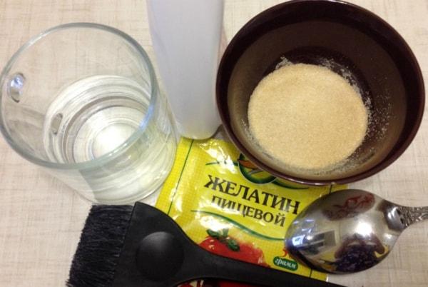 Бальзам с желатином
